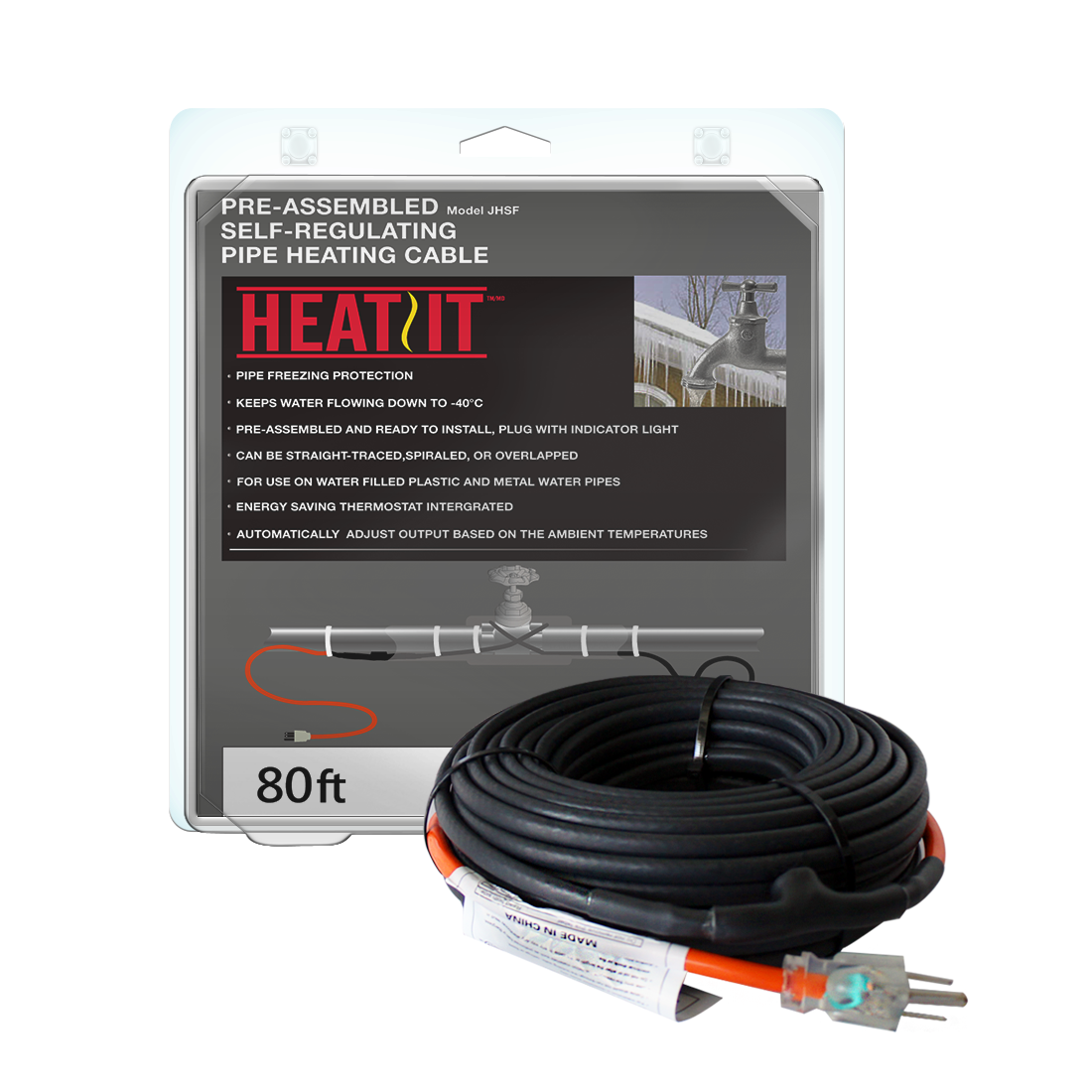 Heatit Jhsf 120v Self Regulating Pre Assembled Pipe